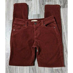 CAbi Womens Size 2 Rustic Red Corduroy Pants